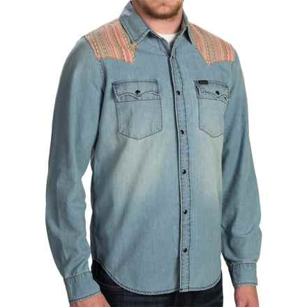 Barbour Navajo Denim Shirt - Snap Front, Long Sleeve (For Men) in Indigo - Closeouts