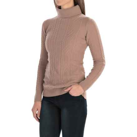Barbour Nebit Turtleneck Sweater - Lambswool (For Women) in Vintage Rose - Closeouts