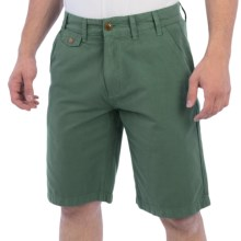 Barbour Neuston Houndstooth Shorts - Regular Fit (For Men) in Nevada Green - Closeouts