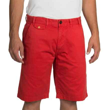 Barbour Neuston Twill Shorts (For Men) in Pillar Box Red - Closeouts