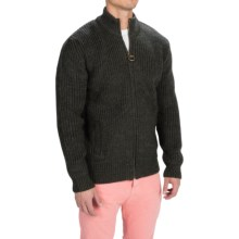 Barbour New Tyne Sweater Jacket - Wool (For Men) in Olive - Closeouts