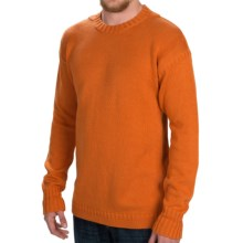Barbour North Crew Neck Sweater (For Men) in Amber - Closeouts