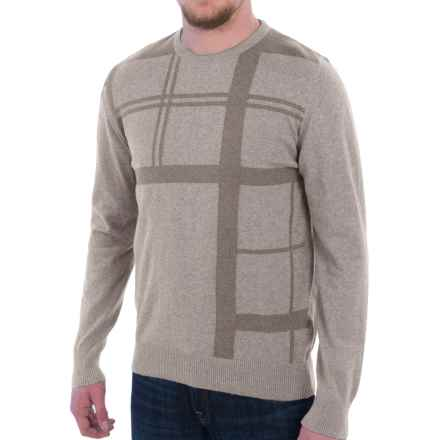 Barbour Oban Crew Neck Sweater (For Men) in Light Stone - Closeouts