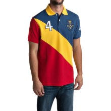 Barbour Offence Family Polo Shirt - Short Sleeve (For Men) in Deep Blue, Trendwell - Closeouts