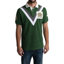 Barbour Offence Family Polo Shirt - Short Sleeve (For Men) in Racing Green, Chukker - Closeouts