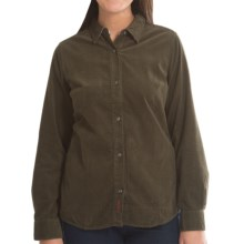 Barbour Oldstead Cotton Corduroy Shirt - Long Sleeve (For Women) in Olive - Closeouts
