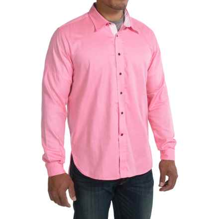 Barbour Oliver Shirt - Button Front, Long Sleeve (For Men) in Candy - Closeouts