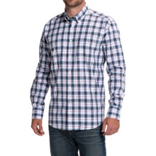 Barbour Olvanhill Cotton Shirt - Regular Fit, Long Sleeve (For Men) in Blue - Closeouts