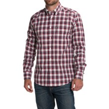 Barbour Olvanhill Cotton Shirt - Regular Fit, Long Sleeve (For Men) in Chilli Red - Closeouts