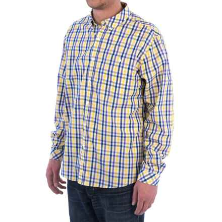 Barbour Orlando Shirt - Long Sleeve (For Men) in Yellow Check - Closeouts