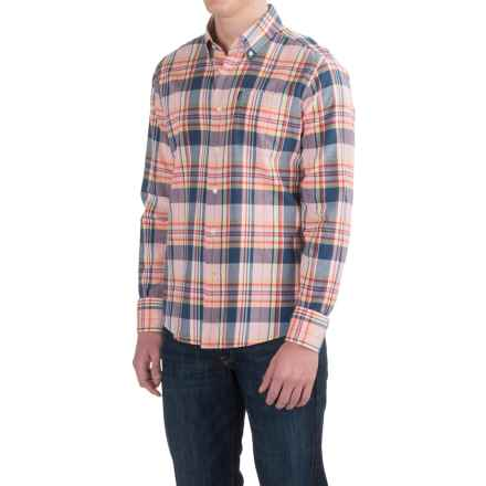Barbour Orson Shirt - Long Sleeve (For Men) in Pink Check - Closeouts