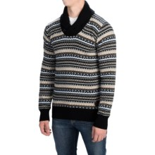 Barbour Orwell Lambswool Sweater - Shawl Collar (For Men) in Black - Closeouts