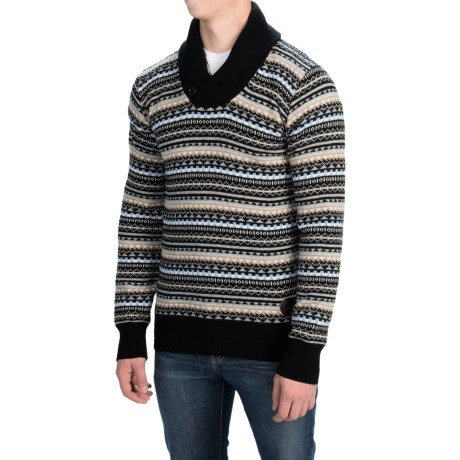 Barbour Orwell Lambswool Sweater Shawl Collar (For Men)
