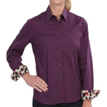 Barbour Overton Shirt - Stretch Cotton, Long Sleeve (For Women) in Blackberry - Closeouts