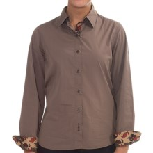 Barbour Overton Shirt - Stretch Cotton, Long Sleeve (For Women) in Mocha - Closeouts