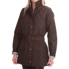 Barbour Paddle Quilted Jacket - Belted (For Women) in Dark Brown/October Fell - Closeouts