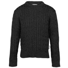Barbour Pantone Cable-Knit Lambswool Sweater - Crew Neck (For Boys) in Black - Closeouts