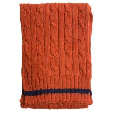 Barbour Pantone Cable-Knit Scarf - Lambswool (For Little and Big Kids) in Rust - Closeouts