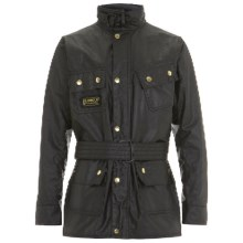 Barbour Patch Pocket Jacket - Waxed Cotton (For Boys) in Black, International - Closeouts