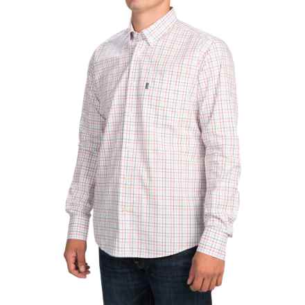 Barbour Patrick Tattersall Shirt - Slim Fit, Long Sleeve (For Men) in Pillar Box Red Check - Closeouts