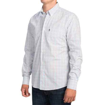Barbour Patrick Tattersall Shirt - Slim Fit, Long Sleeve (For Men) in Plum Check - Closeouts