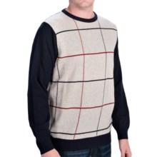 Barbour Pelham Lambswool Sweater - Crew Neck (For Men) in Navy - Closeouts