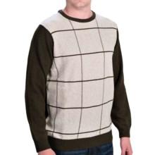 Barbour Pelham Lambswool Sweater - Crew Neck (For Men) in Seaweed - Closeouts