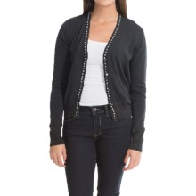 Barbour Pima Cotton Cardigan Sweater (For Women) in Black, Decker, V-Neck - Closeouts
