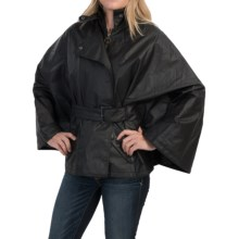 Barbour Pirouette Waxed-Cotton Cape (For Women) in Black/Equestrian - Closeouts