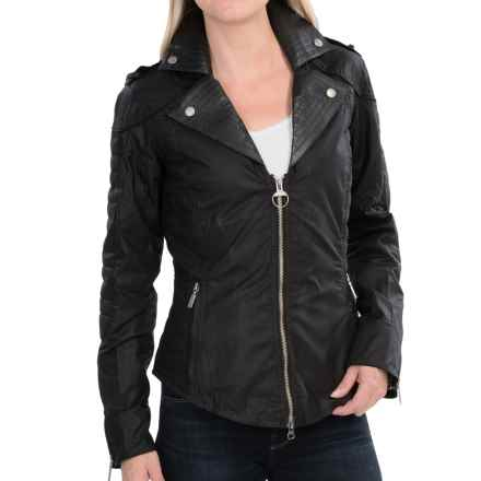 Barbour Pivot Jacket - Waxed Cotton (For Women) in Black - Closeouts
