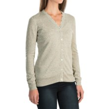Barbour Popham Lightweight Cardigan Sweater - Viscose-Linen (For Women) in Green Lily - Closeouts