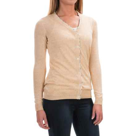 Barbour Popham Lightweight Cardigan Sweater - Viscose-Linen (For Women) in Macademia - Closeouts