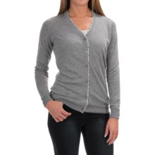 Barbour Popham Lightweight Cardigan Sweater - Viscose-Linen (For Women) in Pewter - Closeouts