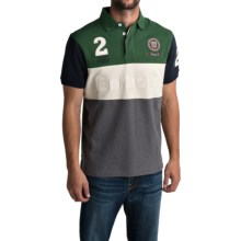 Barbour Prevail Color-Block Polo Shirt - Short Sleeve (For Men) in Racing Green - Closeouts