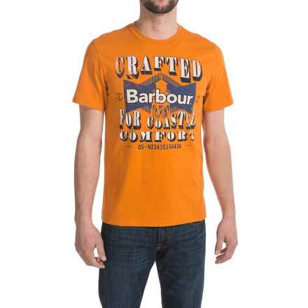 Barbour Printed Cotton Knit T-Shirt - Short Sleeve (For Men) in Amber, Crafted - Closeouts