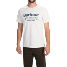 Barbour Printed Cotton Knit T-Shirt - Short Sleeve (For Men) in Neutral, Protective - Closeouts