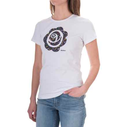 Barbour Printed Cotton Round Neck T-Shirt - Short Sleeve (For Women) in Avon, Ashperton - Closeouts