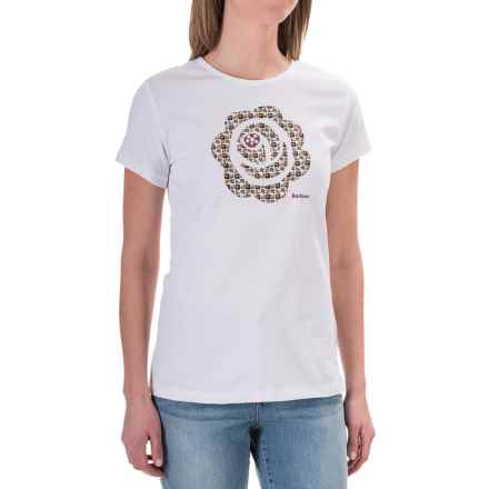 Barbour Printed Cotton Round Neck T-Shirt - Short Sleeve (For Women) in October Fell, Ashperton - Closeouts