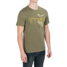 Barbour Printed Cotton T-Shirt - Short Sleeve (For Men) in Bleached Olive, A225 - Closeouts