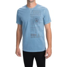 Barbour Printed Cotton T-Shirt - Short Sleeve (For Men) in Blue, Cowen - Closeouts