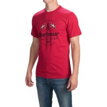 Barbour Printed Cotton T-Shirt - Short Sleeve (For Men) in Chilli Red, Albion - Closeouts