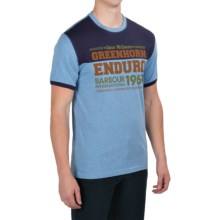 Barbour Printed Cotton T-Shirt - Short Sleeve (For Men) in Colorado Blue - Closeouts