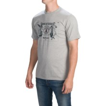 Barbour Printed Cotton T-Shirt - Short Sleeve (For Men) in Grey Marl, Lockwood - Closeouts