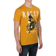 Barbour Printed Cotton T-Shirt - Short Sleeve (For Men) in Mustard, Racer - Closeouts
