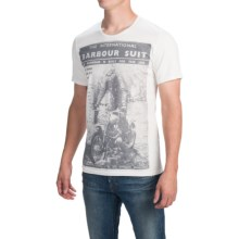 Barbour Printed Cotton T-Shirt - Short Sleeve (For Men) in Neutral, Suit - Closeouts