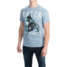 Barbour Printed Cotton T-Shirt - Short Sleeve (For Men) in Powder Blue, Racer - Closeouts