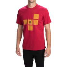 Barbour Printed Cotton T-Shirt - Short Sleeve (For Men) in Rich Red, Cuibe - Closeouts