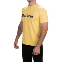 Barbour Printed Cotton T-Shirt - Short Sleeve (For Men) in Sun Bleach, Essential - Closeouts