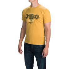 Barbour Printed Knit T-Shirt - Short Sleeve (For Men) in Mustard, Wrench - Closeouts