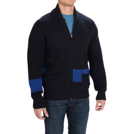 Barbour Pym Cardigan Sweater - Full Zip (For Men) in Navy - Closeouts